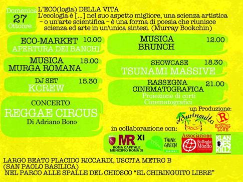 programma park festival domenica 27 ottobre