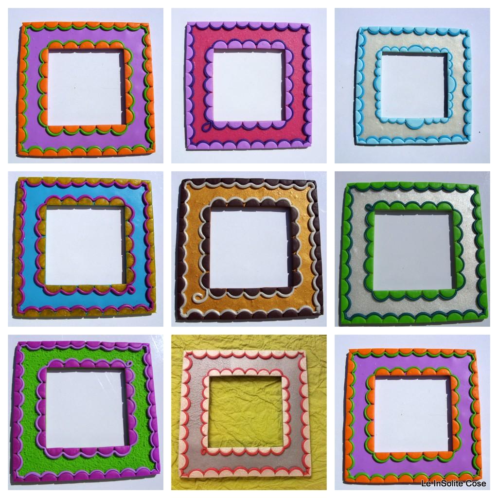 Cornici Colorate Per Foto cornici magnetiche portafoto realizzate in fimo e cernit
