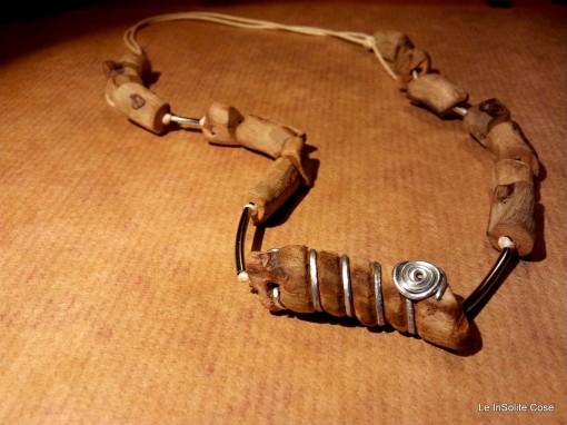 Collana in legno e metallo – 2014