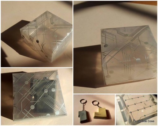 origami #box out of #plastic #circuit from a pc-keyboard - #diy #upcycle