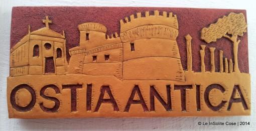 Ostia Antica Magnete Skyline – Oro e Bordeaux – 2014