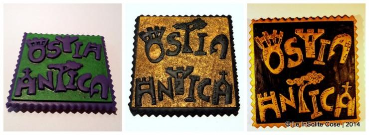 Scritta logo per Ostia Antica by Le InSolite Cose - 2014