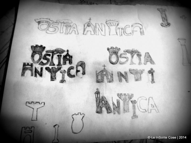 Scritta logo per Ostia Antica by Le InSolite Cose - 2014  (1)
