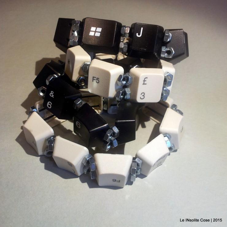 Eccezionale Bracciale personalizzato uomo con Tasti della Tastiera del PC - Le  HP13