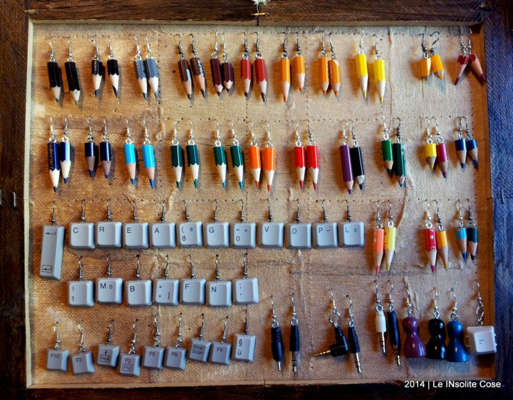 Orecchini fai da te tasti pc jack matite colorate for Fai da te creativo
