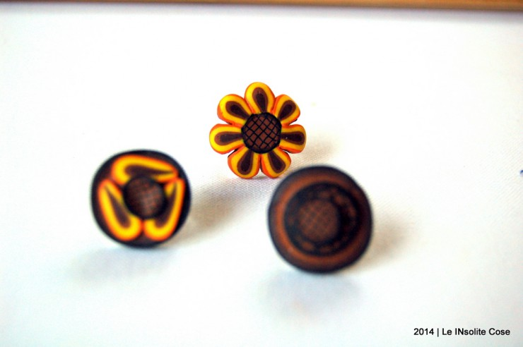 Anelli in Fimo serie 'Weird Sunflowers' Le InSolite Cose - 2014 (1)