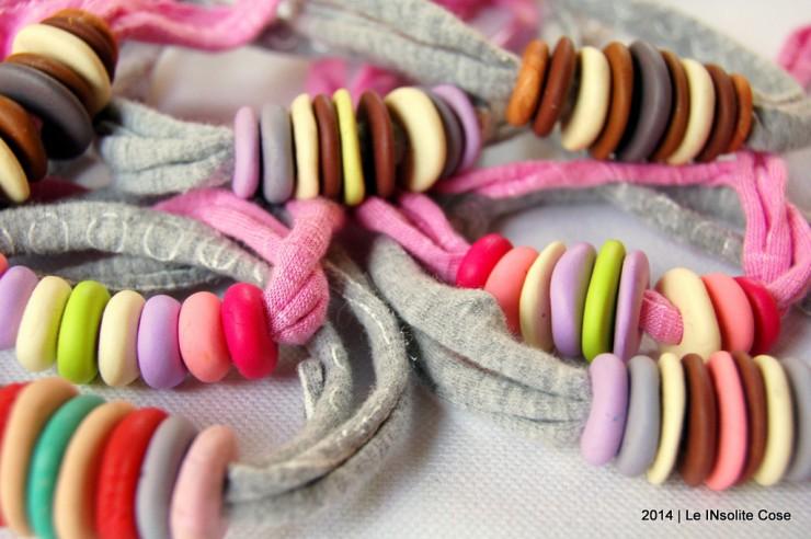 Bracciali con perline di fimo su cotone elastico - Le InSolite Cose 2014 (4)