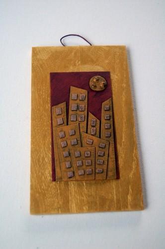 Città d'Oro – Disegno in rilievo, idea regalo inSolita –  2014