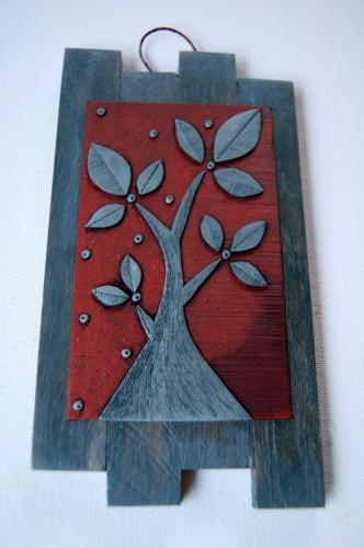 Albero Acciaio su Rame – Disegno in rilievo, idea regalo inSolita –  2014