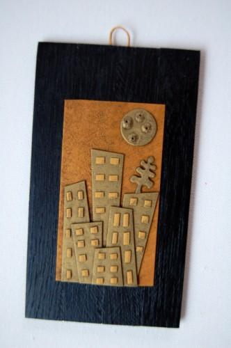 Città d'Oro con Albero – Disegno in rilievo, idea regalo inSolita –  2014