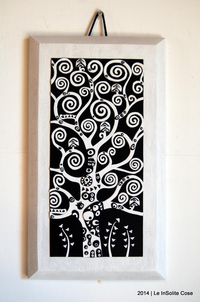 Albero della Vita di Klimt by Le InSolite Cose - www.leinsolitecose.com versione Bianco e Nero (2)
