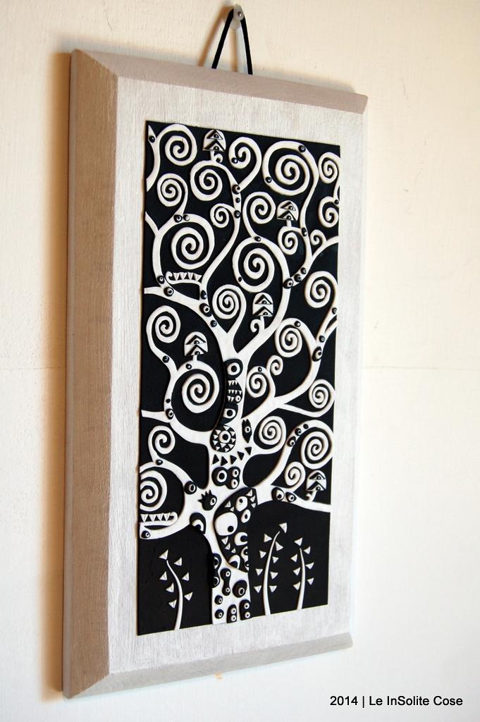 Albero della Vita di Klimt by Le InSolite Cose - www.leinsolitecose.com versione Bianco e Nero (3)