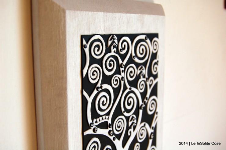 Albero della Vita di Klimt by Le InSolite Cose - www.leinsolitecose.com versione Bianco e Nero (4)