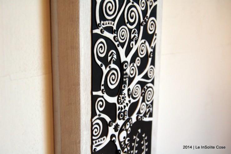 Albero della Vita di Klimt by Le InSolite Cose - www.leinsolitecose.com versione Bianco e Nero (5)