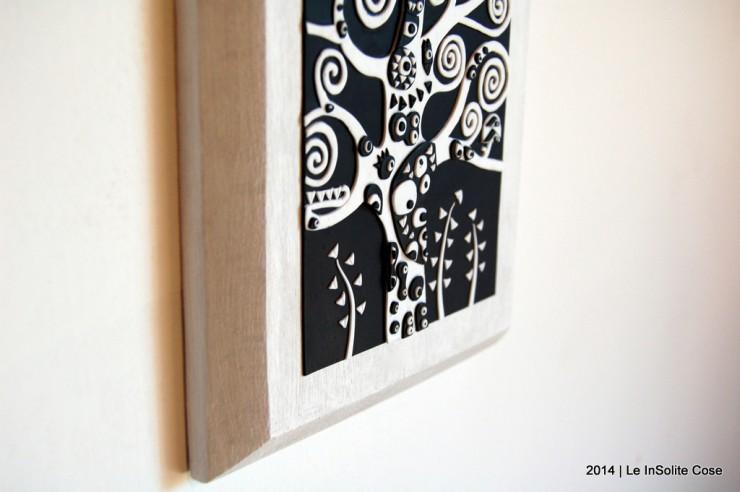Albero della Vita di Klimt by Le InSolite Cose - www.leinsolitecose.com versione Bianco e Nero (6)