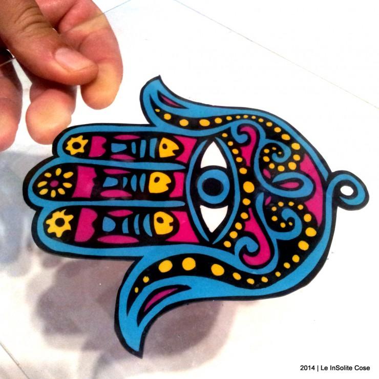 Mano di Fatima - disegno in rilievo in pasta polimerica - Le InSolite Cose 2014 (9)