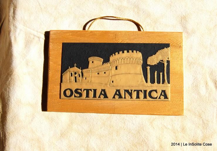 Quadro Skyline Ostia Antica Oro su Nero - Le InSolite Cose - 2014 (1)