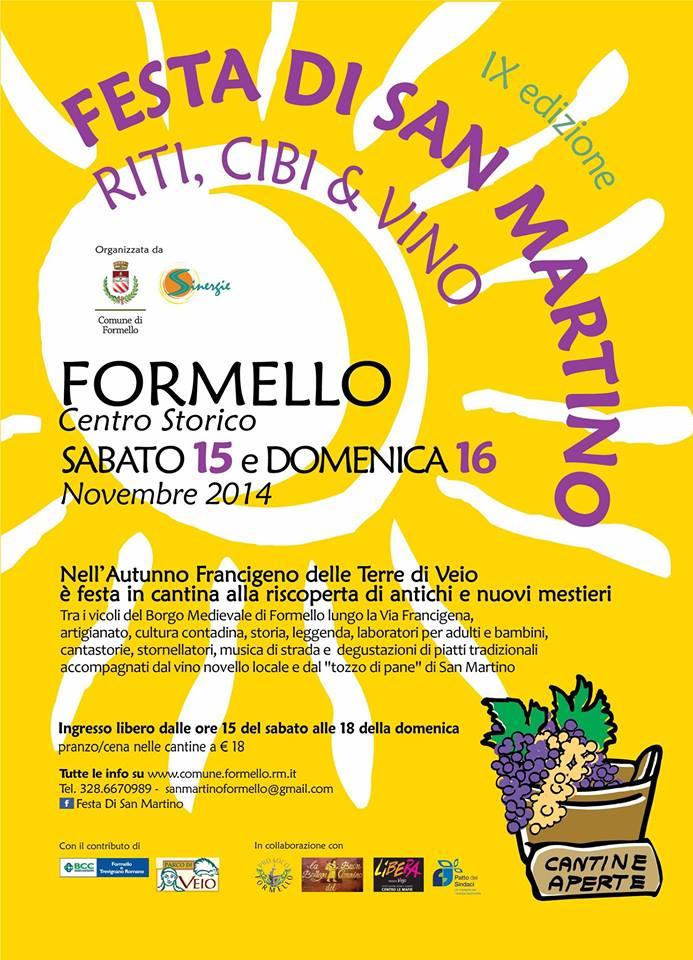Le InSolite Cose alla Festa di San Martino a Formello (RM) 15 e 16 novembre 2014