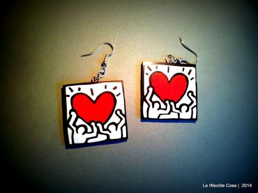 Orecchini Keith Haring – su commissione