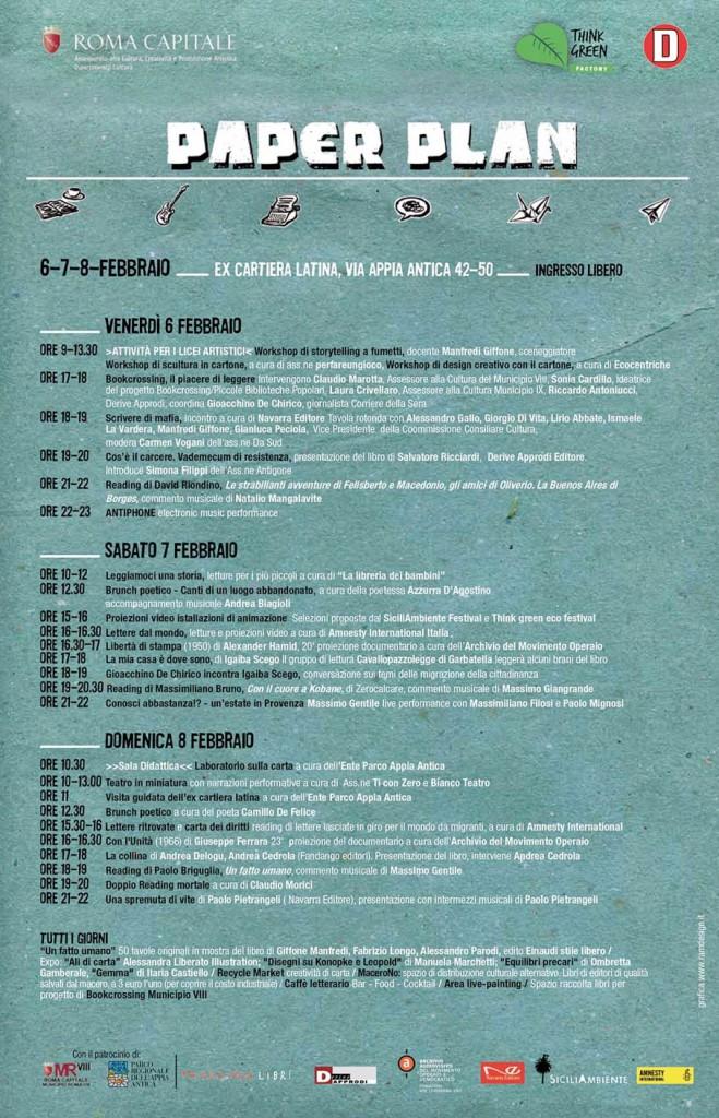 Le INsolite Cose al Paper Plan Festival di Roma dal 6 all'8 febbraio 2015 - Programma completo
