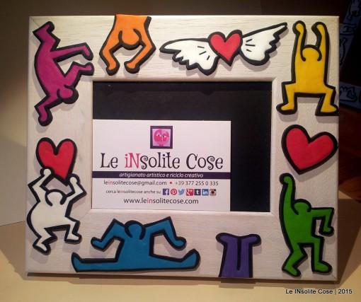 Cornice portafoto personalizzata tributo a Keith Haring