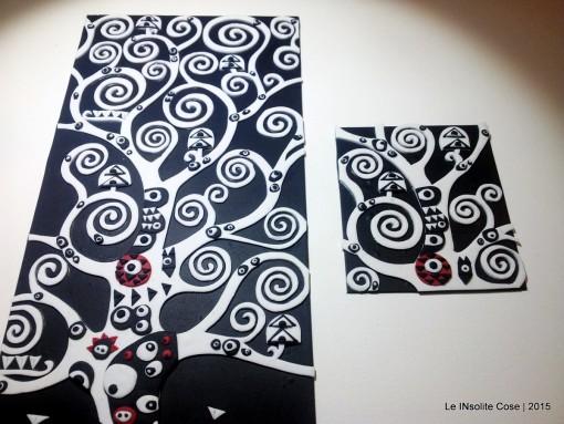 Albero della Vita di Klimt – Versioni Bianco e Nero