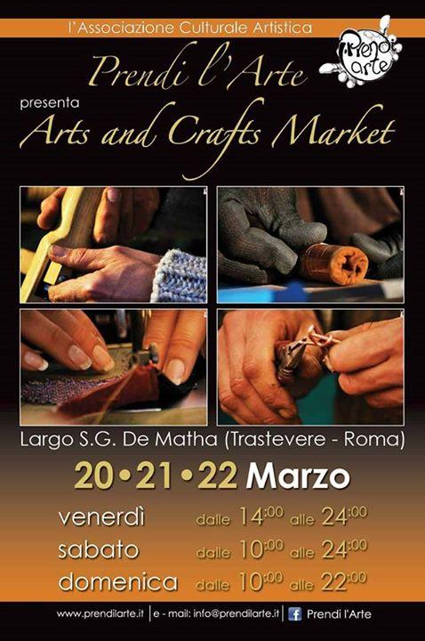 le INsolite Cose a Trastevere per l'Arts and Crafts Market di Prendi L'arte - dal 20 al 22 Marzo 2015