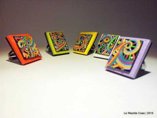 """Anelli quadro """"Pentagonia cromatica"""" – 2015"""