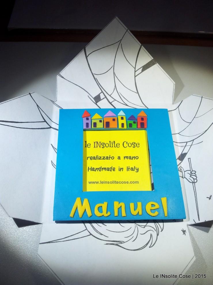 Cornice Magnetica Portafoto personalizzata con nome - Manuel - Le INsolite Cose 2015  (3)