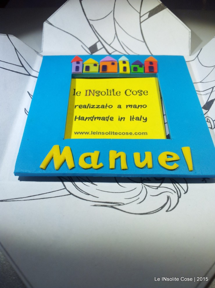 Cornice Magnetica Portafoto personalizzata con nome - Manuel - Le INsolite Cose 2015  (4)