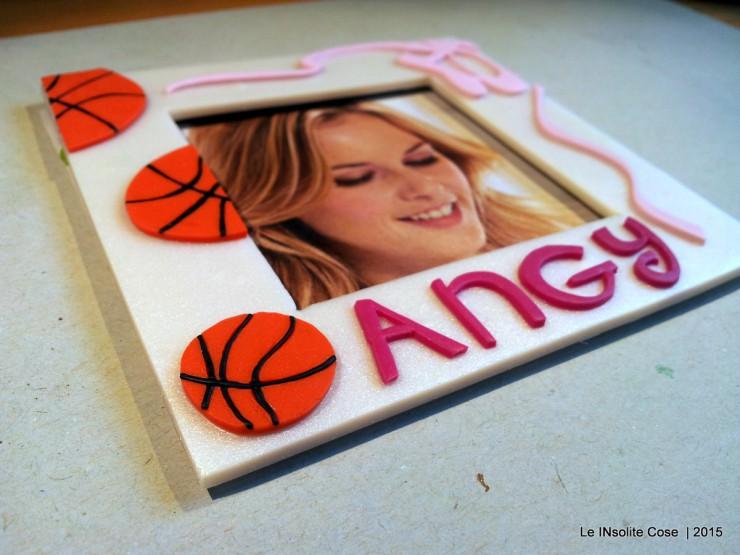 Cornice portafoto con palle da basket e scarpette da danza - per Angy - Le INsolite Cose (1)