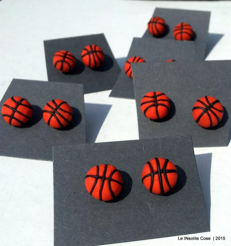 Orecchini palla da basket – un regalo