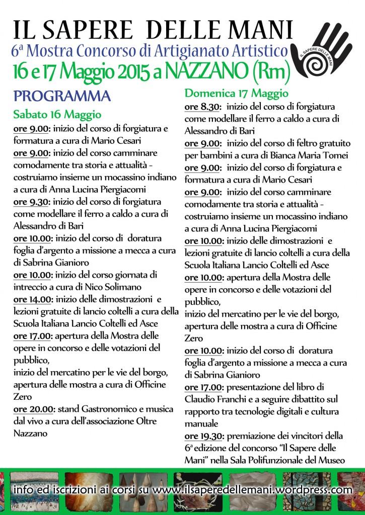 programma evento il sapere delle mani 2015 Nazzano