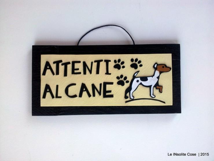 Tavolette attenti al cane