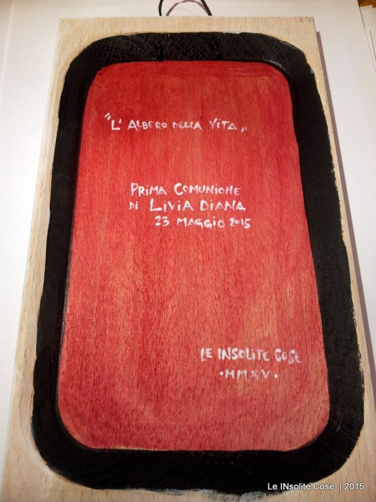 tavolette dedica personalizzata per albero della vita - bomboniere comunione livia - handmade in Italy - Le INsolite Cose 2015 (13)