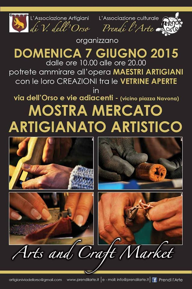 Le INsolite Cose al Mercato di Artigianato Artistico in Via dell'Orso (piazza Navona) a Roma, 7 giugno 2015 - full