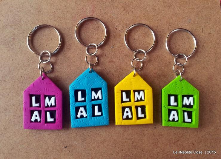 Portachiavi a casetta con iniziali per Lidia - Le INsolite Cose 2015 (2)