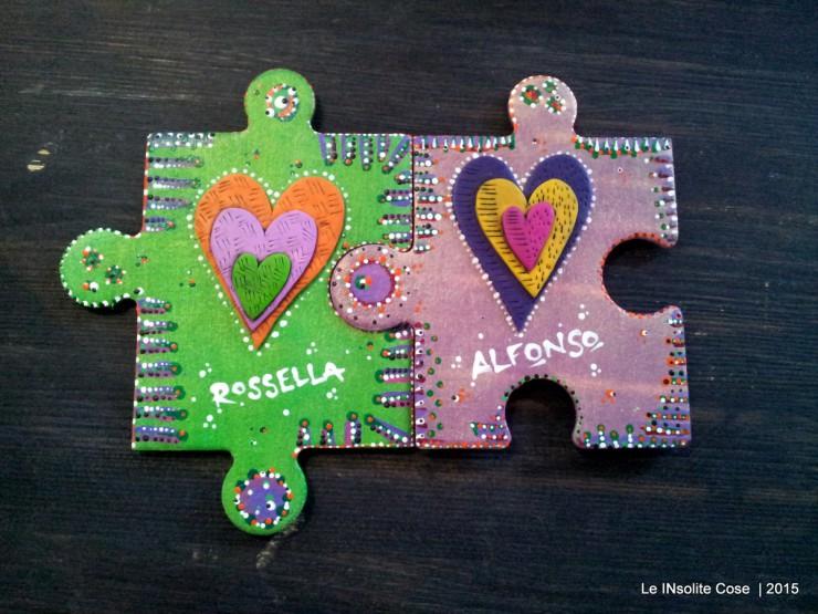 Calamite personalizzate Puzzle e Cuori per Rossella e Alfonso - Le INsolite Cose 2015 (2)