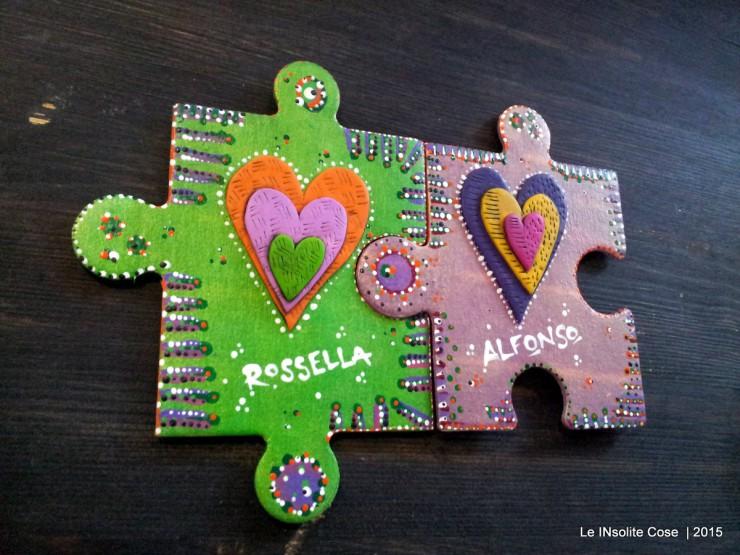 Calamite personalizzate Puzzle e Cuori per Rossella e Alfonso - Le INsolite Cose 2015 (3)