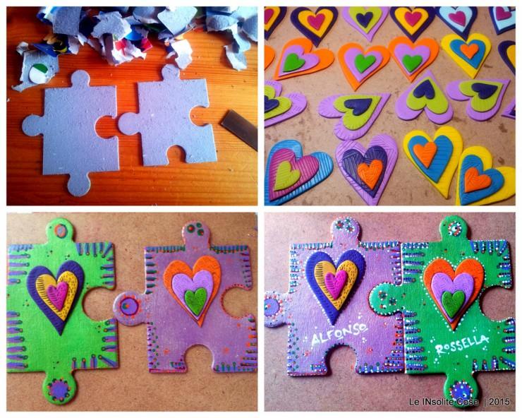 making of Calamite Cuore Puzzle personalizzate per Rossella - le InSolite Cose 2015