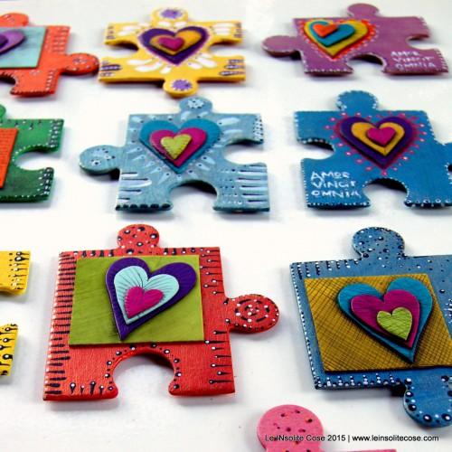 Calamite Puzzle con Cuore INsolito e Amor Vincit Omnia