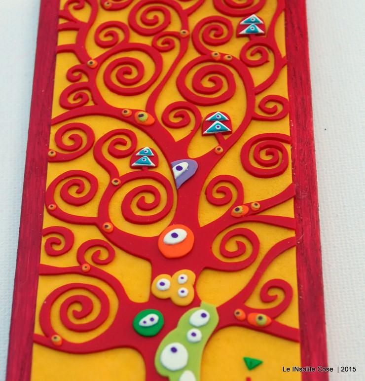 Rosso su Giallo Girasole su legno Rosso