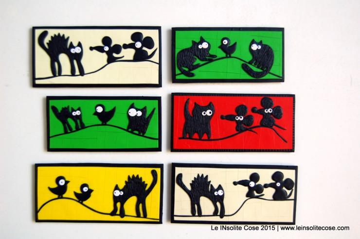 Calamite con Gatti neri Stilizzati - Realizzato a mano - Le INsolite Cose 2015 (5)