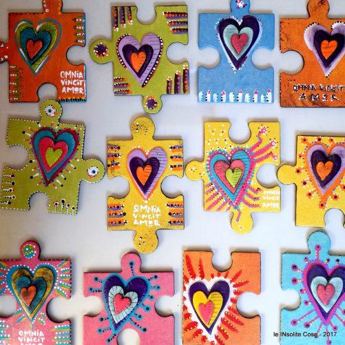 Calamite Puzzle con Cuore INsolito e Omnia Vincit Amor – 2017