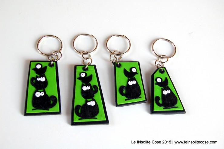 Portachiavi con gatti neri stilizzati - Le INsolite Cose - www.leinsolitecose.com - 2015 (16)