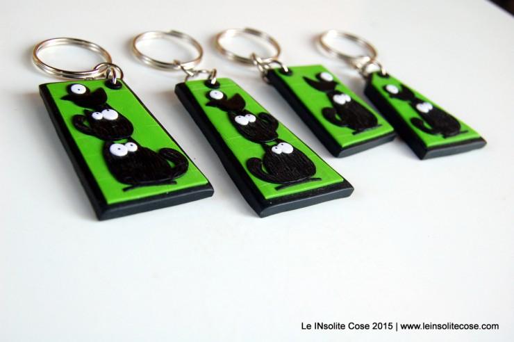 Portachiavi con gatti neri stilizzati - Le INsolite Cose - www.leinsolitecose.com - 2015 (17)