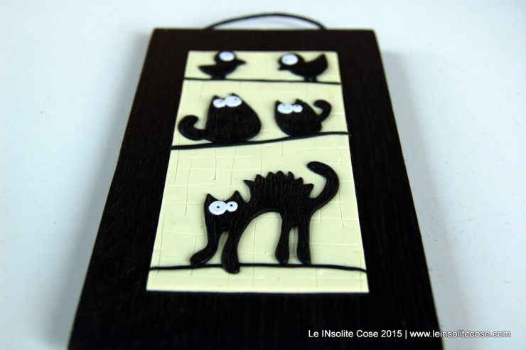 Tavolette con gatti neri stilizzati taglia small - Quadro porta calamite ...