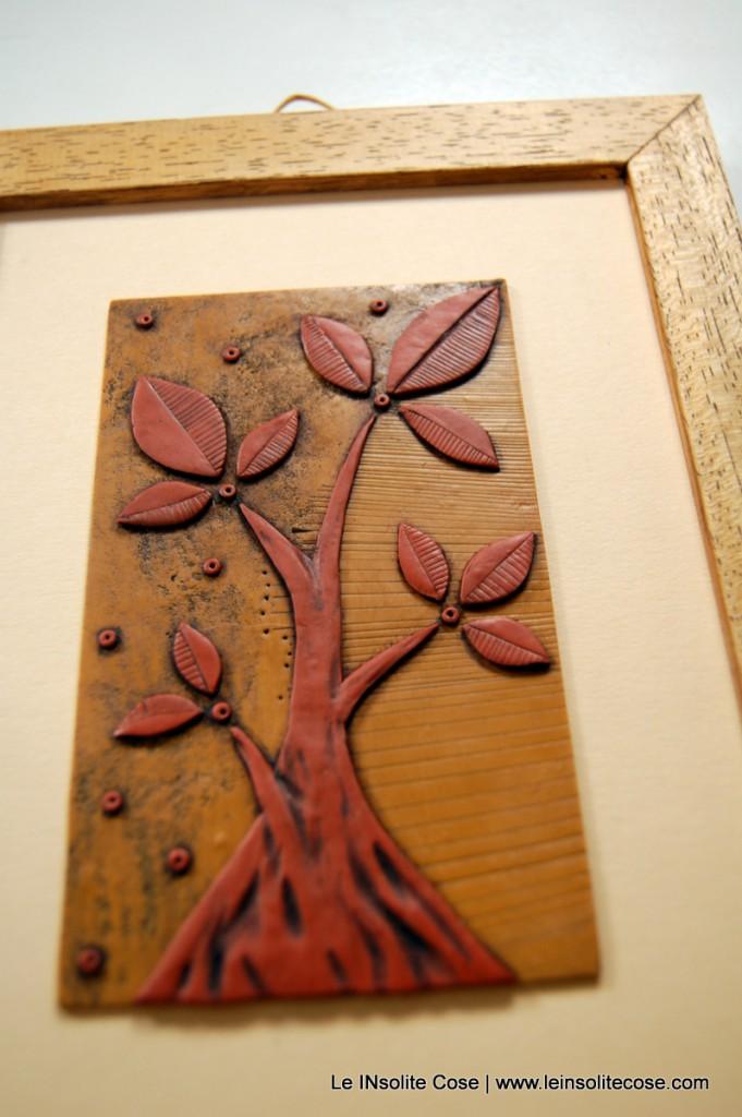 albero nostro ocra e terracotta, con cornice - Le INsolite Cose 2015 (1)