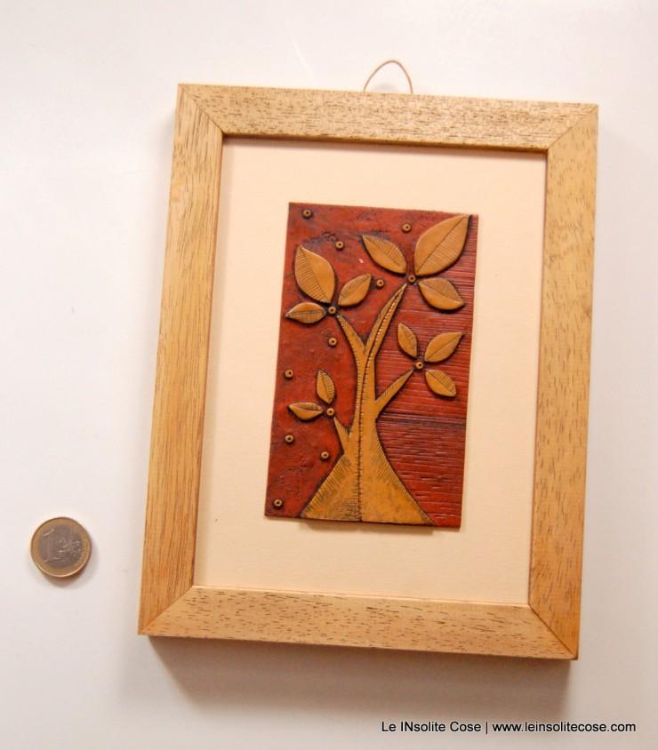 albero nostro ocra e terracotta, con cornice - Le INsolite Cose 2015 (4)