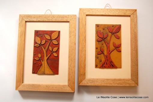 Il Nostro Albero – Ocra e Terracotta con cornice